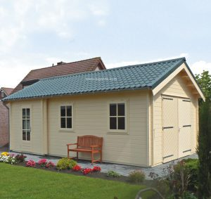 Woodpro apex roof wooden garage G3.
