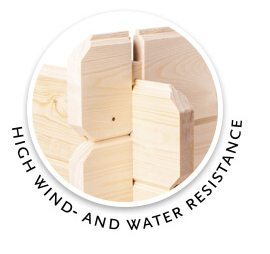 woodpro.com logotype - high wind and water resistance.