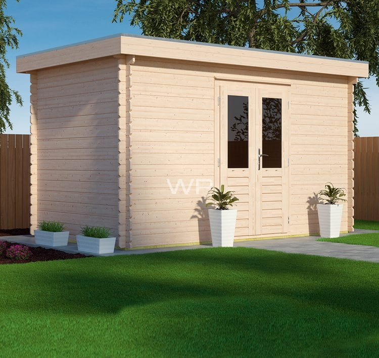 A small summerhouse with a flat roof