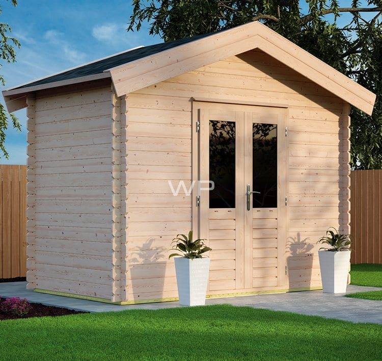Small garden shed with a flat roof